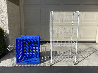 Rolling Cart An Basket for Sale in Aliso Viejo,  CA