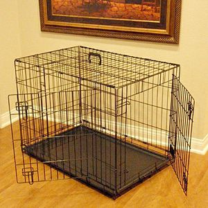 Brand new in box 24x20x17 Inches 2 Doors Pet Cage Dog Kennel Crate Foldable Portable Fold and Store Away for Sale in Pico Rivera, CA