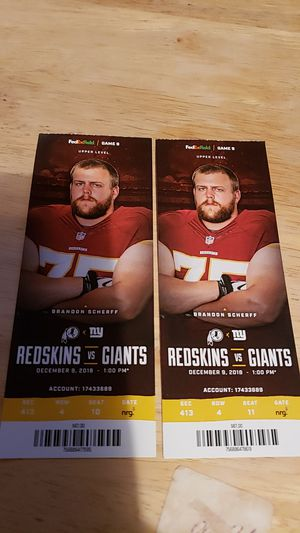 REDSKINS TICKETS for Sale in Fort Washington, MD