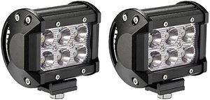 2X 18W Led Work Lights Pods Spot Offroad Lamp ATV Tractor UTE 4inch Cube Pods for Sale in Santa Ana, CA
