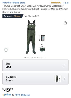 Large Chest Waders for fishing, hunting, boat, water sports for Sale in Stone Mountain, GA