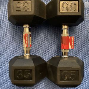35lb Weider Rubber Hex Dumbbell Set 💪 Pair of Dumbbells Brand New for Sale in Hacienda Heights, CA