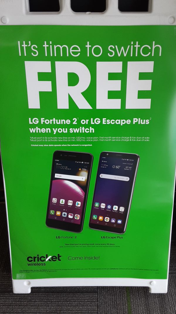 Free phone just for switching to Cricket wireless