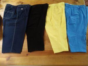 3 pair Coldwater Creek Capri pants 1 pair TanJay blue denim pants for Sale in Prescott, AZ