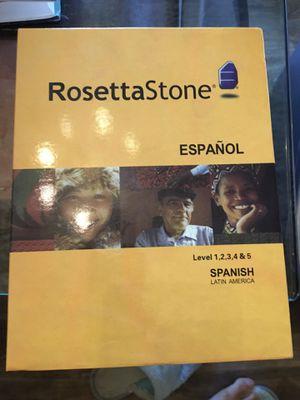 Rosetta Stone Spanish for Sale in Burbank, CA