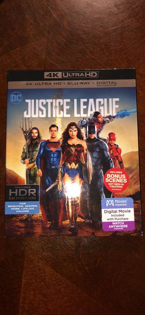Justice League 4K Ultra HD Movie for Sale in Rochester Hills, MI