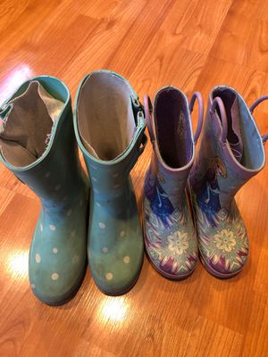 Girl's rain boots for Sale in Fremont, CA