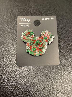 Mistletoe Mickey Mouse Enamel Pin - Christmas Disney Pin - Loungefly for Sale in Las Vegas, NV