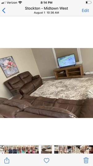 Recliner leather couches for Sale in Stockton, CA