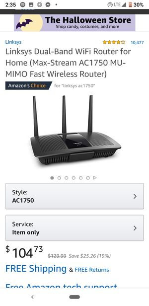 Linksys router / like new / box & instructions for Sale in Denver, CO