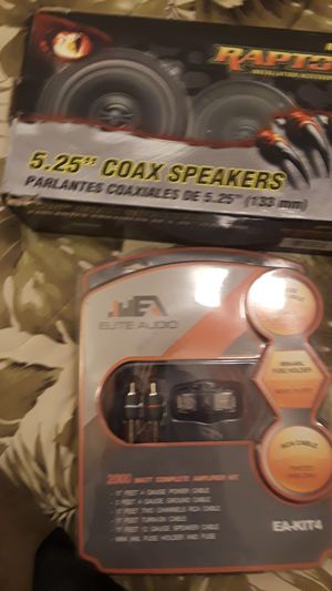 Raptor coax speakers w/ amplifier kit for Sale in San Diego, CA
