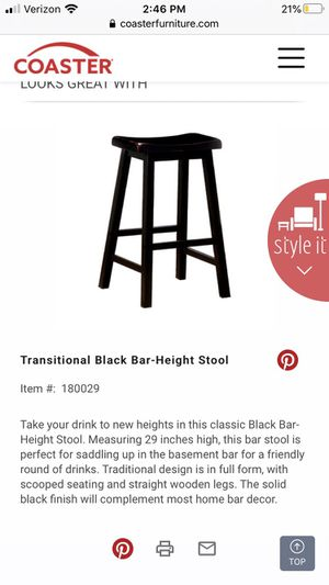 Two black bar stools for Sale in Los Angeles, CA