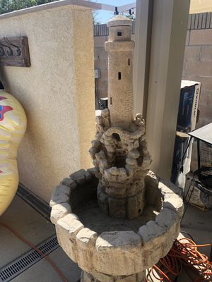 Lighthouse Fountain & Water Pump for Sale in Alta Loma, CA