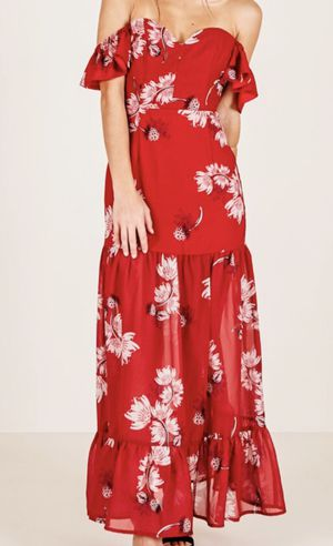 Brand new off the shoulder red floral dress for Sale in Beaverton, OR