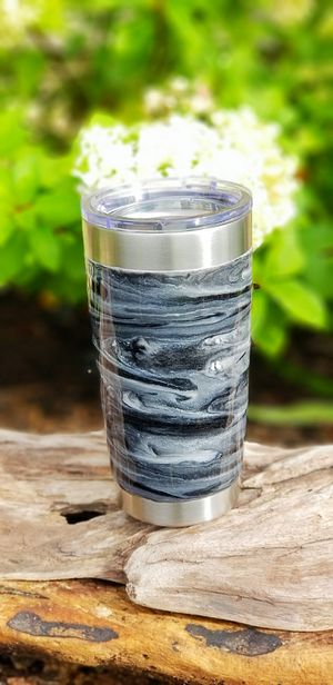 20oz stainless steel tumbler, hand painted with epoxy for Sale in Warrenton, VA