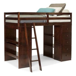 Skyway Twin Loft Bed with Desk in Espresso Finish for Sale in Bend, OR