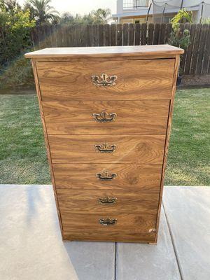 Dresser Tall 6 Drawer Pressed Board Dresser for Sale in Clovis, CA