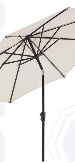 BLUU Olefin 9 FT Patio Market Umbrella Outdoor Table Umbrellas - Fade Resistant Fabric, Market Center Umbrellas with 8 Strudy Ribs & Push Button Tilt for Sale in Oldsmar,  FL