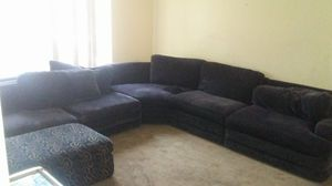 Sectional couch with foot rest for Sale in West Valley City, UT