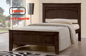 Twin Bed Frame with Slats, Capuccino for Sale in Santa Ana, CA