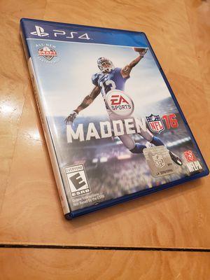 Madden NFL 16 For PS4 for Sale in Philadelphia, PA