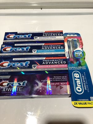Crest and oral B for Sale in Riverdale Park, MD
