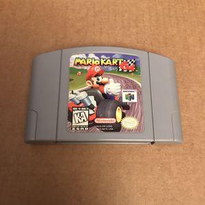 Mario kart 64 nintendo video game cartridge original n64 for Sale in Aspen Hill, MD