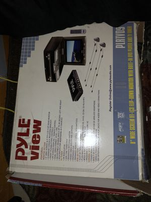 Wide screen flip down dvd tv for car for Sale in Pittsburgh, PA