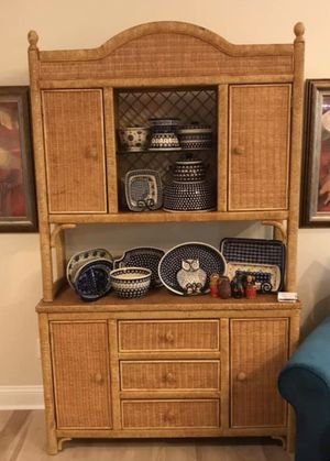 Beautiful vintage wicker buffet for Sale in Jacksonville, FL