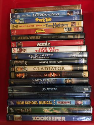 18 DVD movies for Sale in Puyallup, WA