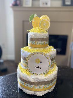 Beautiful Oh Baby Lemon Diaper Cake  for Sale in Los Angeles, CA