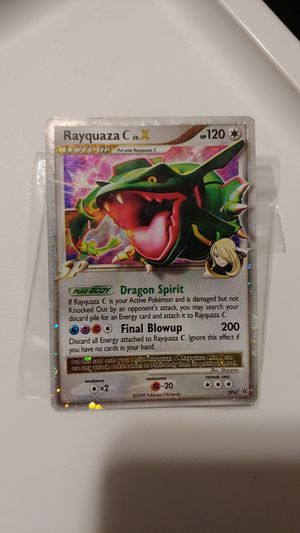 Pokemon card rayquaza C for Sale in West Chicago, IL