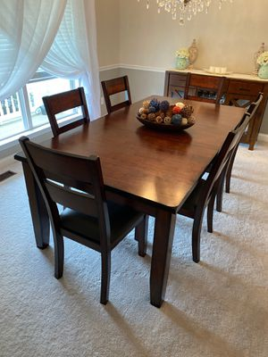 Dinning room All Wood Table, Side Board Table and Entryway Table for Sale in O'Fallon, MO