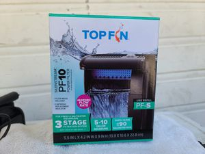 Top fin 3 stage 5-10 gallon filtration fith one filtration bag for Sale in Redwood City, CA