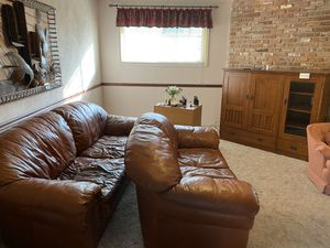 Genuine Leather Couch & Love Seat for Sale in Fresno, CA