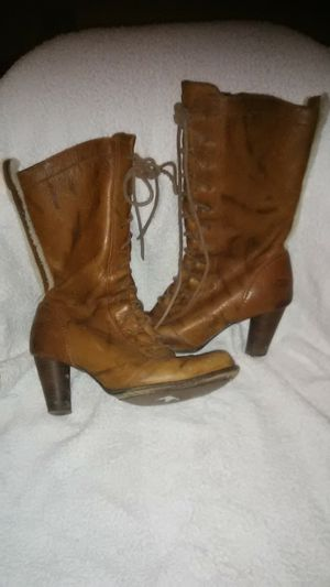 Ugg cigar Brown lace front boots shearling for Sale in Takoma Park, MD