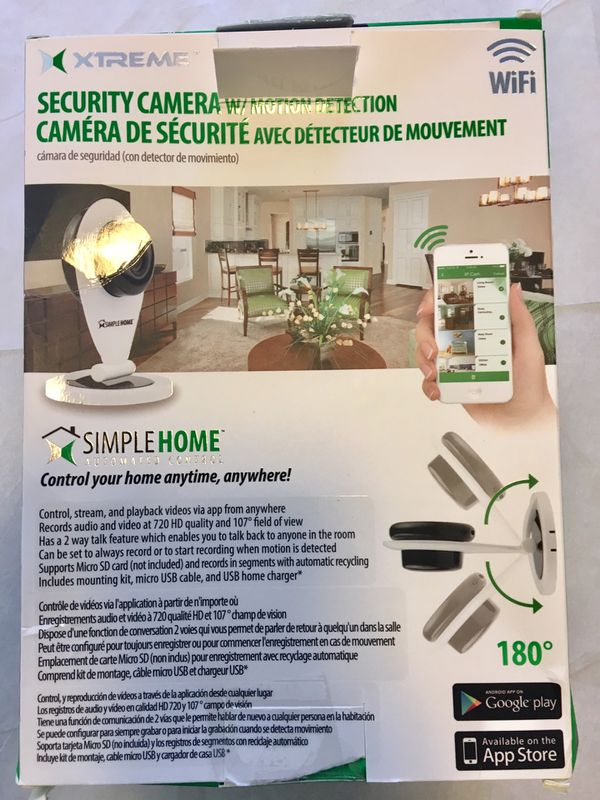 Simple Home Wi-Fi Security Camera w/ Motion Detection