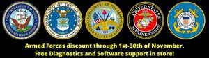 Free Diagnostics and Software Help for Active duty Armed Forces! for Sale in Visalia, CA