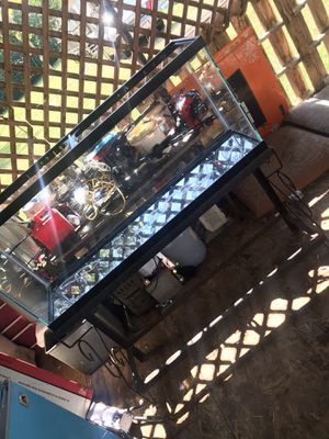 55 gallon fish tank and stand need gone asap for Sale in Murfreesboro, TN