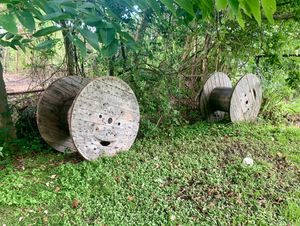 2 Large Wood Spools for Sale in Channelview, TX