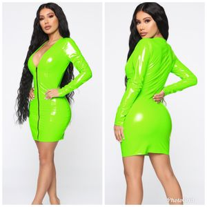 Xsmall, small and large. Fashion nova on the bright side dress neon green for Sale in Los Angeles, CA