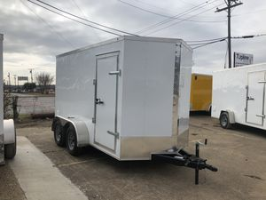 Enclosed cargo trailer 6x12 tandem axle for Sale in Lancaster, TX