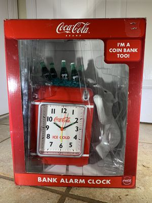 RARE Vintage Coke Bottles Alarm Clock and Coin Bank for Sale in Staten Island, NY