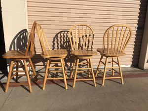 Chairs for kitchen tables-seats that turn 360 degrees. for Sale in La Mesa, CA