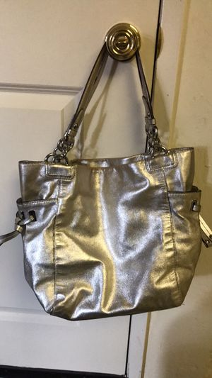 Silver coach purse for Sale in San Jose, CA