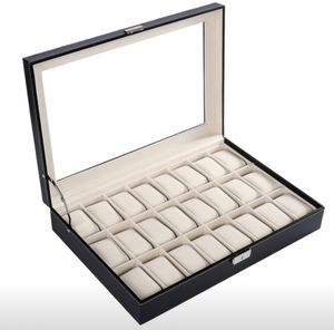 Leather watch storage box -24 slots for Sale in North Potomac, MD