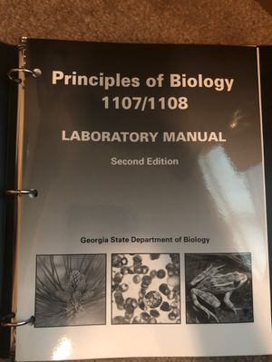 Principles of Biology 1107/1108 laboratory manual 2nd edition for Sale in Dunwoody, GA