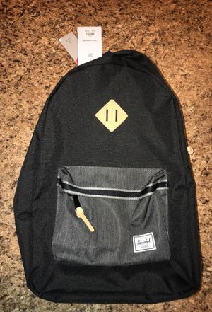 "Herschel Backpack ""Heritage"" Black/Denim for Sale in Lutz, FL"