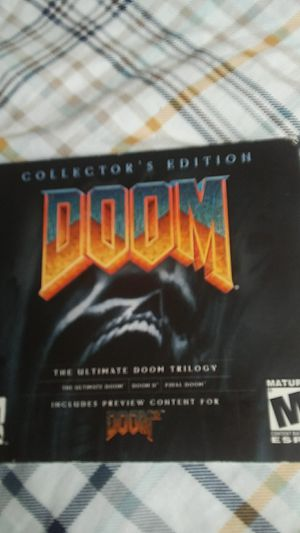 Doom PC collectors. Edition 2 disk set last disk look at doom 3 all doom game on 3 doom disk CD for Sale in Grove City, OH