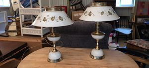 2 vintage matching metal lamps for Sale in Clementon, NJ